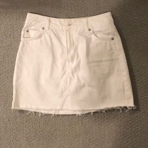white Top Shop skirt